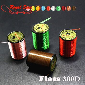 10 Colors Neon Floss Yarn TROUT/BASS/SALMON Shinny Fly Tying Materials Thread Tinsel Wires For Nymphal & Streamer Flies Baits