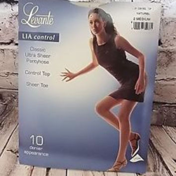 Lia Control 10 Denier Ultra Sheer Pantyhose