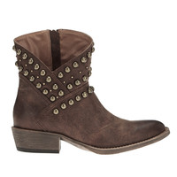 Cowgirl Studded Asymmetrical Boots
