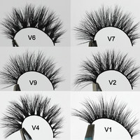 Visofree Dramatic Lashes Mink Eyelashes 1 Pair 3D Noire Mink Lash Fluttery Effect Dramatic Upper Lashes AE -JM