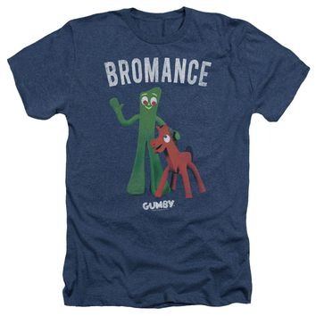 Gumby - Bromance Adult Heather Officially Licensed T-Shirt Short Sleeve Shirt