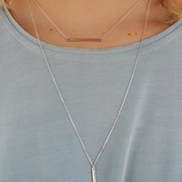 SWING & SWAY NECKLACE - SILVER