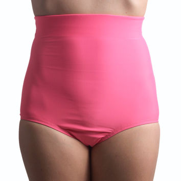 Pink Matte Color High Waist Shorts