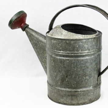 Vintage 1950s Galvanized Watering Can