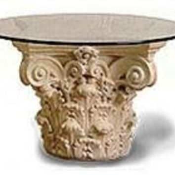 Corinthian Cocktail Table Base 19H Classical Home Decor