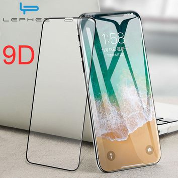 For iPhone X Screen Protector Glass On The For iPhone 10 Protective Glass For iPhone X 10 9D Curved Full Cover Film