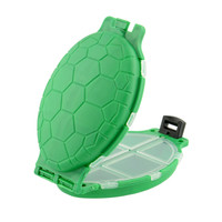 12 Compartments Tortoise Shape Plastic Turtle Fishing Lure Baits Hooks Tackle Box Pocket