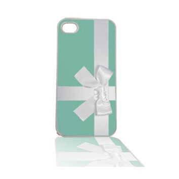 Tiffany Blue Box with Bow iPhone 5 5s Cell Case White