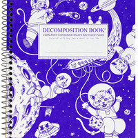 Kittens in Space | Coilbound Decomposiiton Book | Ruled Pages