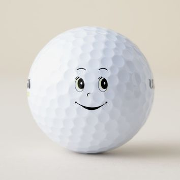 Happy Face Golf Balls