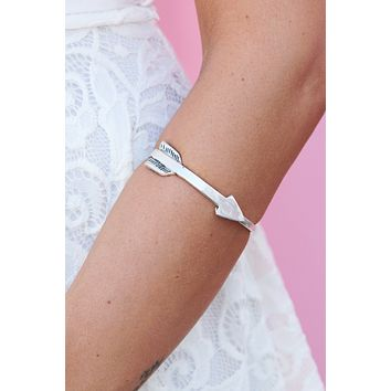 Cupid's Arrow Cuff (Silver)