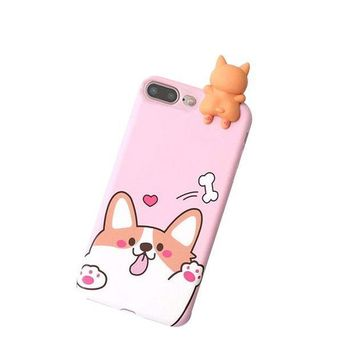 CREYV2S Voberry 3D Cartoon Animals Cute Bare Bears Soft Silicone Case For IPhone 7 Plus 5.5 Inch