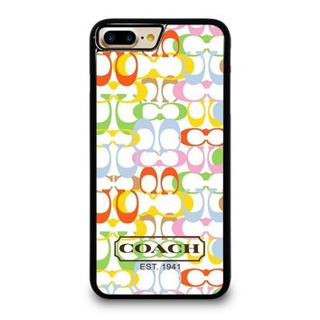 coach new york colorful iphone 4 4s 5 5s se 5c 6 6s 7 8 plus x case  number 1