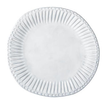 Vietri Incanto White Stripe Dinner Plate