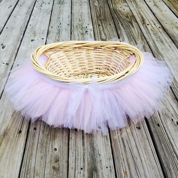 Tutu Basket, Photo Prop, Tutu Baby Shower Basket, Tutu Easter Basket, Flower Girl Basket, Tulle Basket, Gift Basket, Nursery Decor