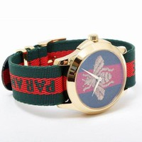 GUCCI Fashion Unisex Classic Bee Tiger Embroidery Stripe Watch Sport Watches Wrist Watch I-PS-XSDZBSH