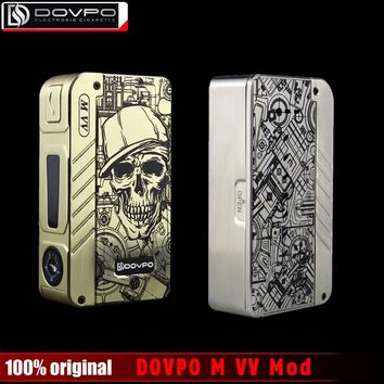 Original DOVPO MVV Electronic Cigerette Box Mod Flagship Edition M VV Vape Mod 18650 mechanical mods for 510 thread Atomizer