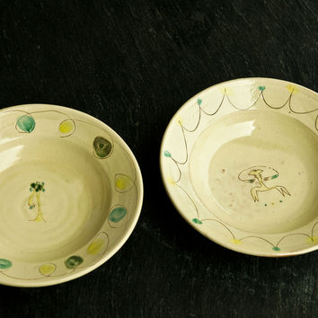 Facce - Hand-Painted Ceramic Soup & Pasta Bowl