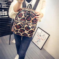 Comfort Stylish Casual Back To School Hot Deal College On Sale Leopard A4 Size Backpack [6582796871]