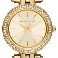 Women's Michael Kors 'Petite Darci' Crystal Bezel Bracelet Watch, 26mm