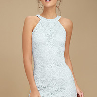 Love Poem Light Blue Lace Dress