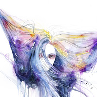 Big Bang in watercolor Canvas Print by Agnes-cecile