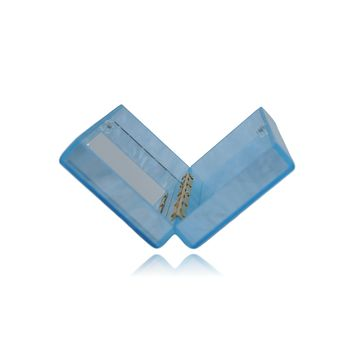 Baby Blue Acrylic Box Clutch with Mirror