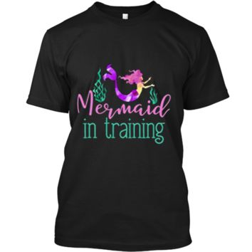 Mermaid In Training Outfit for Girls Kids Women T Shirt Custom Ultra Cotton