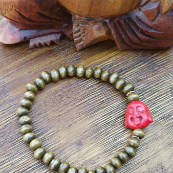 Original Collection- Red Buddha Beaded Hand Made Bracelet