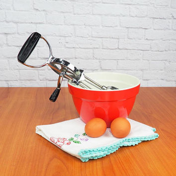 Ecko BEST Vintage Hand Blender Black Hand Mixer, Egg Beater Retro Vintage Kitchen Gadget