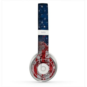 The Grungy American Flag Skin for the Beats by Dre Solo 2 Headphones