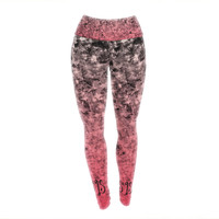 "Ebi Emporium ""So This Is Love"" Pink Glitter Yoga Leggings"