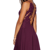 Free People Cha Cha Ponte Like A Dream Dress in Wine