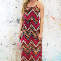 Chevron Bliss Maxi Dress