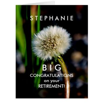BIG Custom Retirement Congratulations Make a Wish Card
