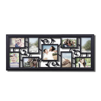 Decorative Black Plastic Filigree Wall Hanging Collage Picture Photo Frame