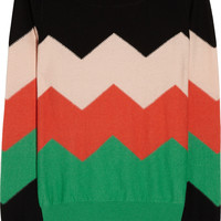 Sonia by Sonia Rykiel|Cotton and cashmere-blend sweater|NET-A-PORTER.COM