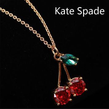Kate Spade New fashion zircon cherry pendant necklace women