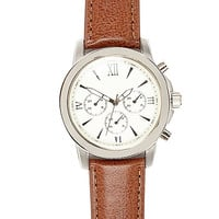 River Island MensLight brown Roman numeral watch