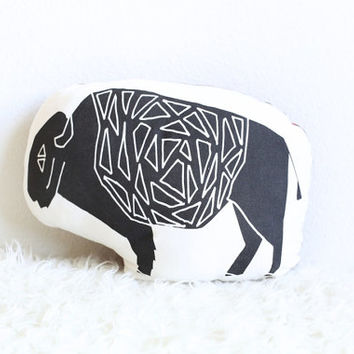 Organic Buffalo Pillow // Ready-to-ship