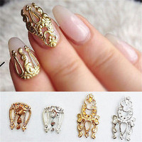 Charm 10pcs 3D Hollow Nail Art Alloy Tips Decoration Jewelry Glitter DV