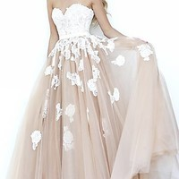 Long Strapless Sweetheart Sherri Hill Dress