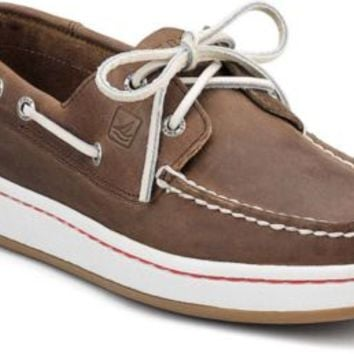 Sperry Top-Sider Sperry Cup 2-Eye Boat Sneaker DarkBrownLeather, Size 7.5M  Men's