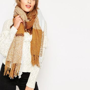 Pieces | Pieces Oversized Check Scarf at ASOS