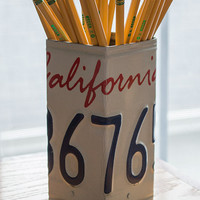 California License Plate Pencil Holder - Pencil Cup - Unique Pencil Cup - Desk Accessories - Office Decor - California License Plate