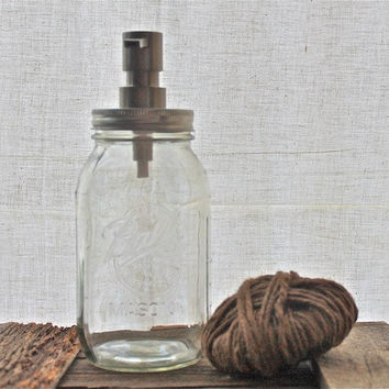 "Soap Dispenser Mason Jars (32oz) ""Ryan"""