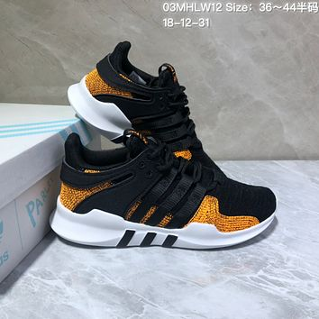 HCXX A548 Adidas EQT Cushion ADV Mesh Fashion Running Shoes Black Gold