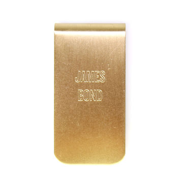 Personalized Brass Money Clip