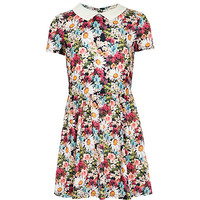 Girls pink ditsy floral print dress - day dresses - dresses - girls