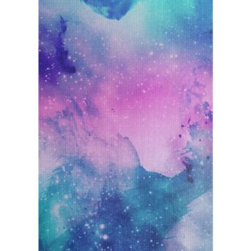 Watercolor Space Yoga Mat